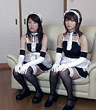 Emili Aoi and another schoolgirl maid