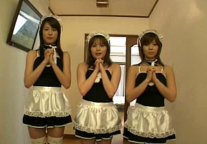 Emili Aoi and 2 other maids